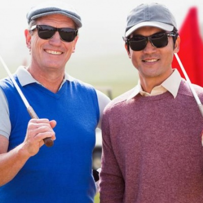 Golfers in sunglasses